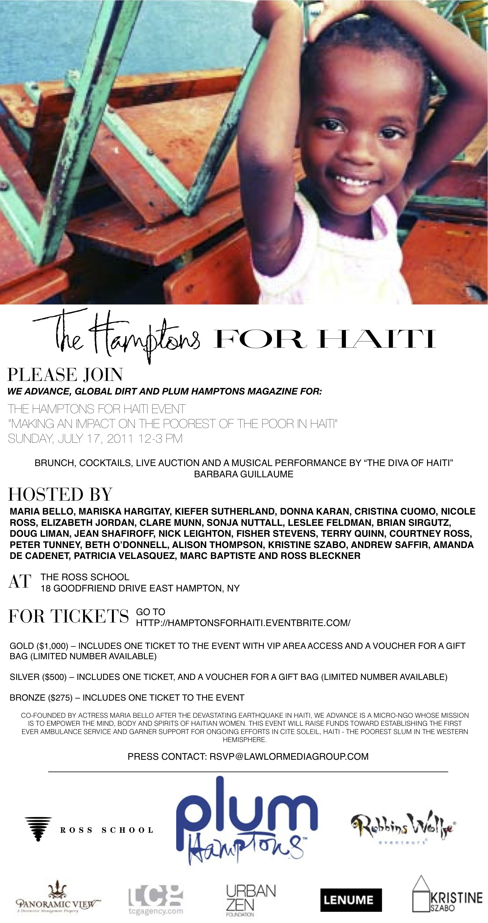 Hamptons For Haiti Invite