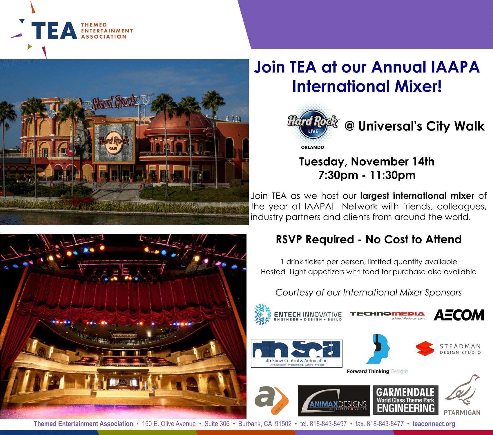 TEA @ IAAPA International Mixer