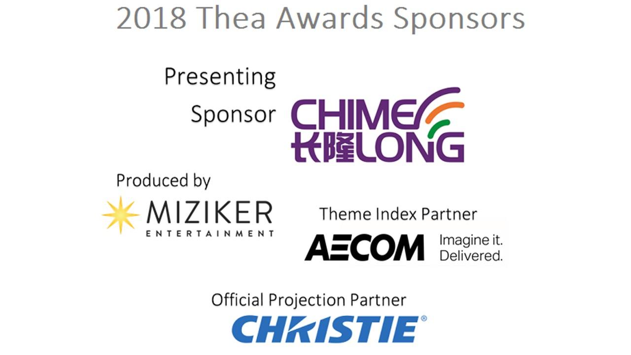 2018 Thea Awards Sponsors