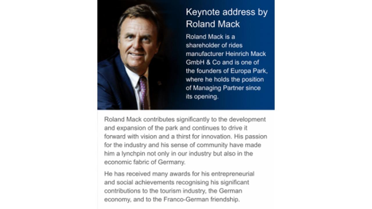 Roland Mack Keynote