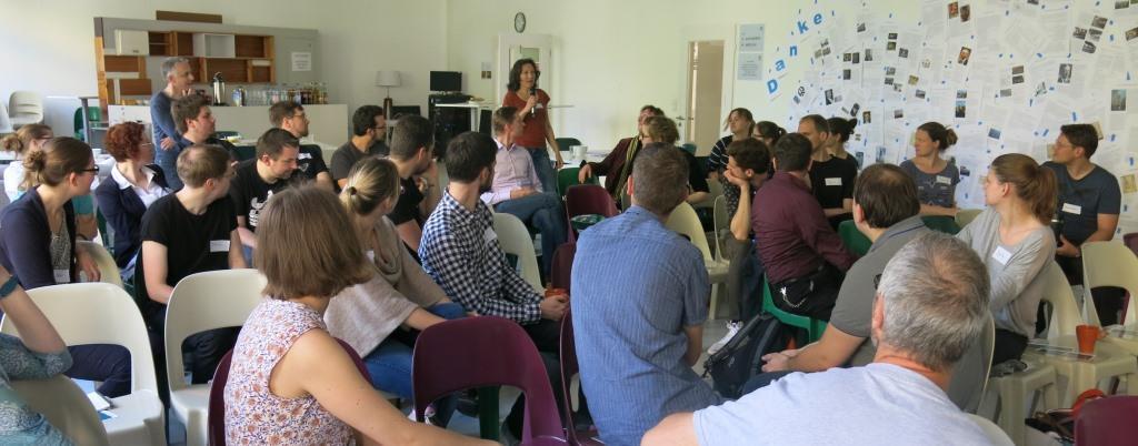 Rege Diskussion beim 1. Fast Forward Science Barcamp 2016