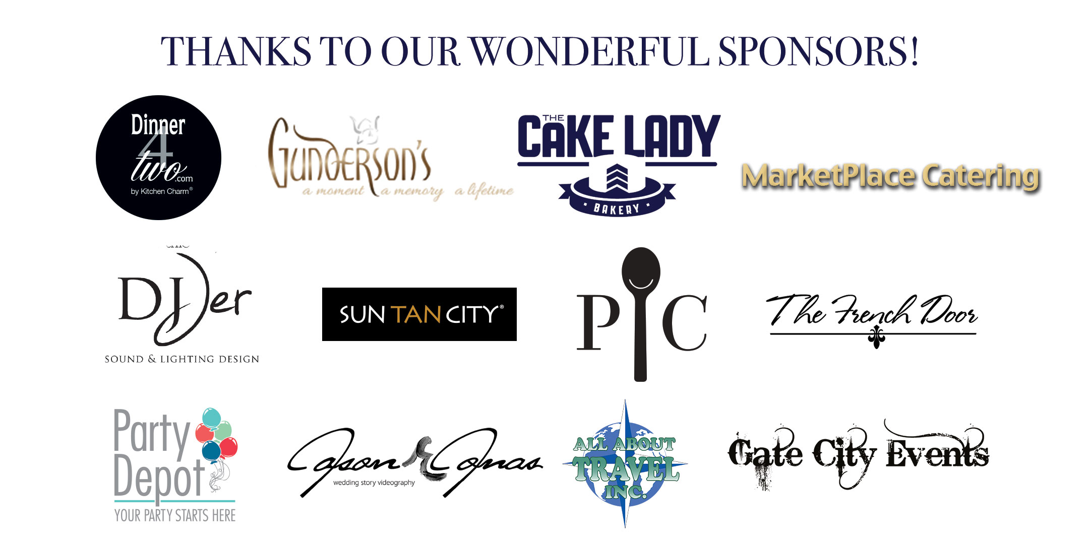 Thanks to the Sponsors of our event