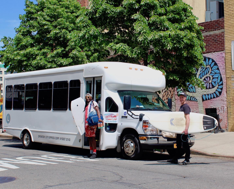 Rockaway Brew Cruiser 28 person luxury coach shuttle bus