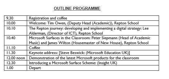 Outline Programme