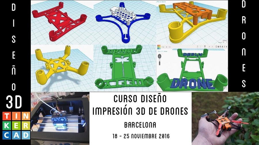 Tallers workshop diseño impresión 3D drones