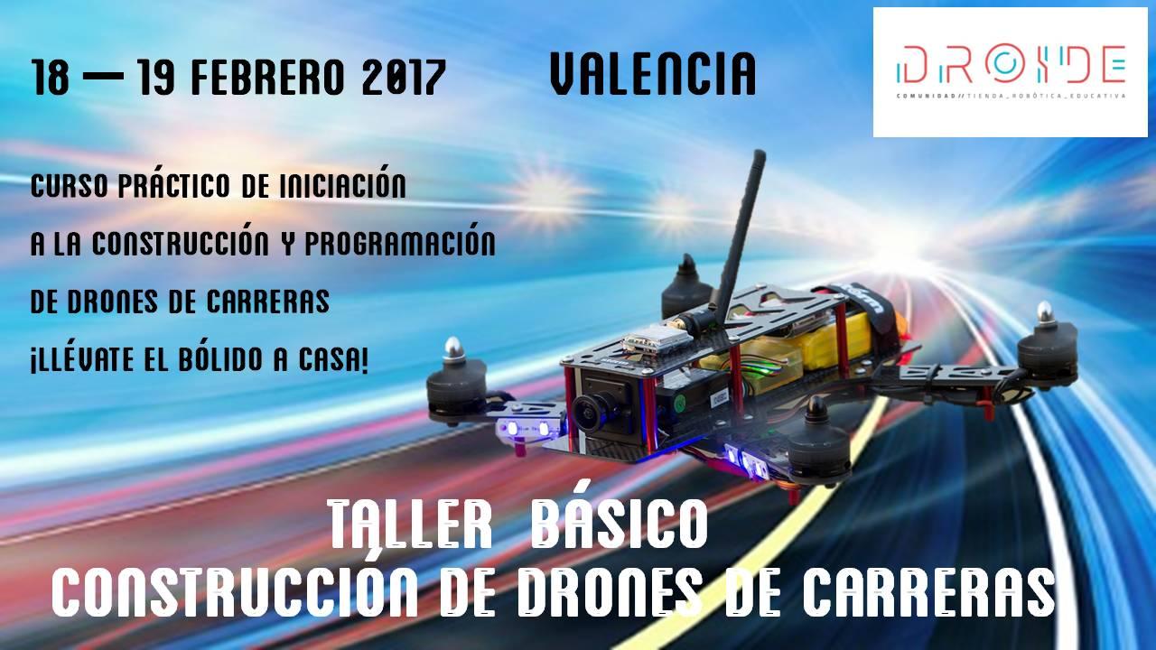 Curso construccion programación drones Valencia