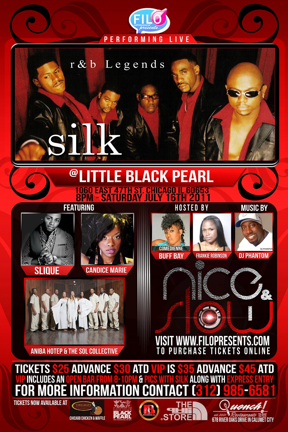 Silk Nice & Slow Chicago