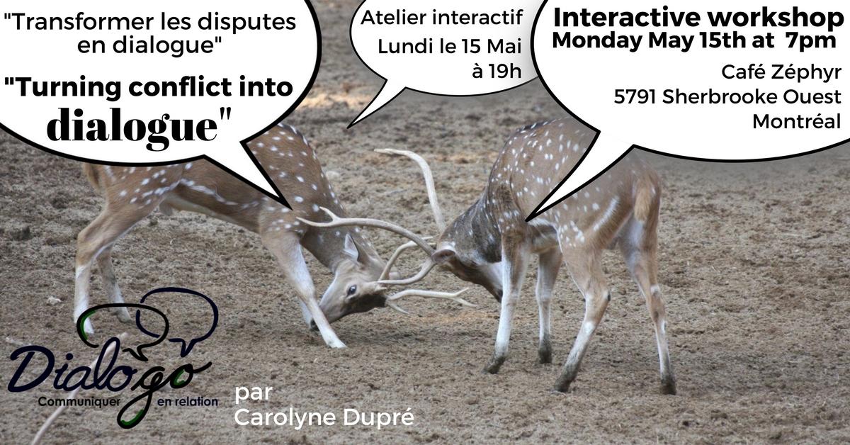 Transforming conflit into dialogue