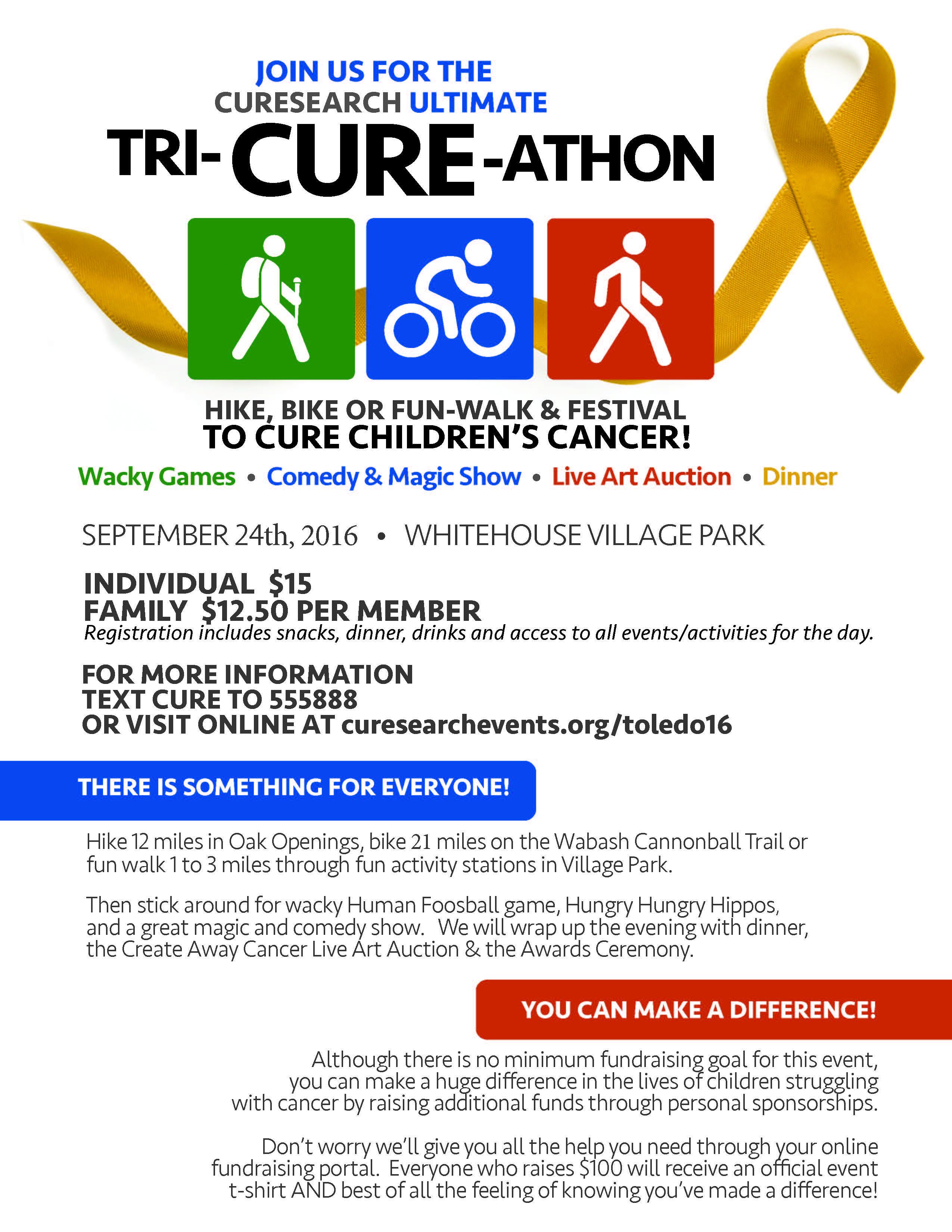 TriCureathon Event Information
