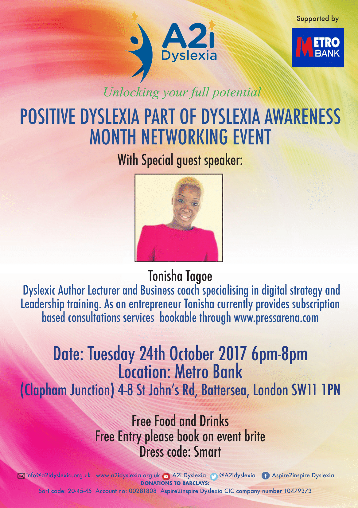 A2i Dyslexia Networking Event