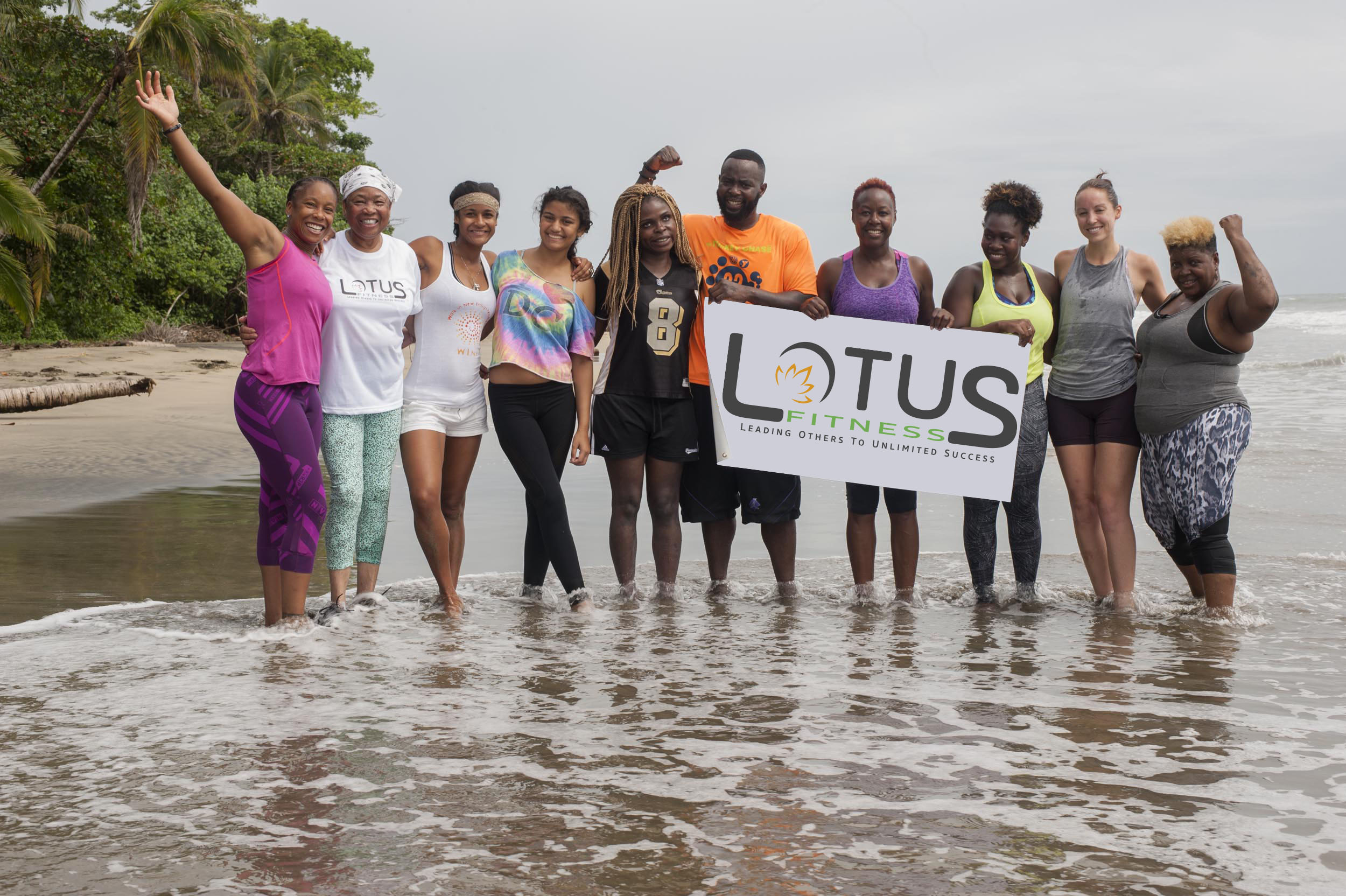 LOTUS Group on the beach