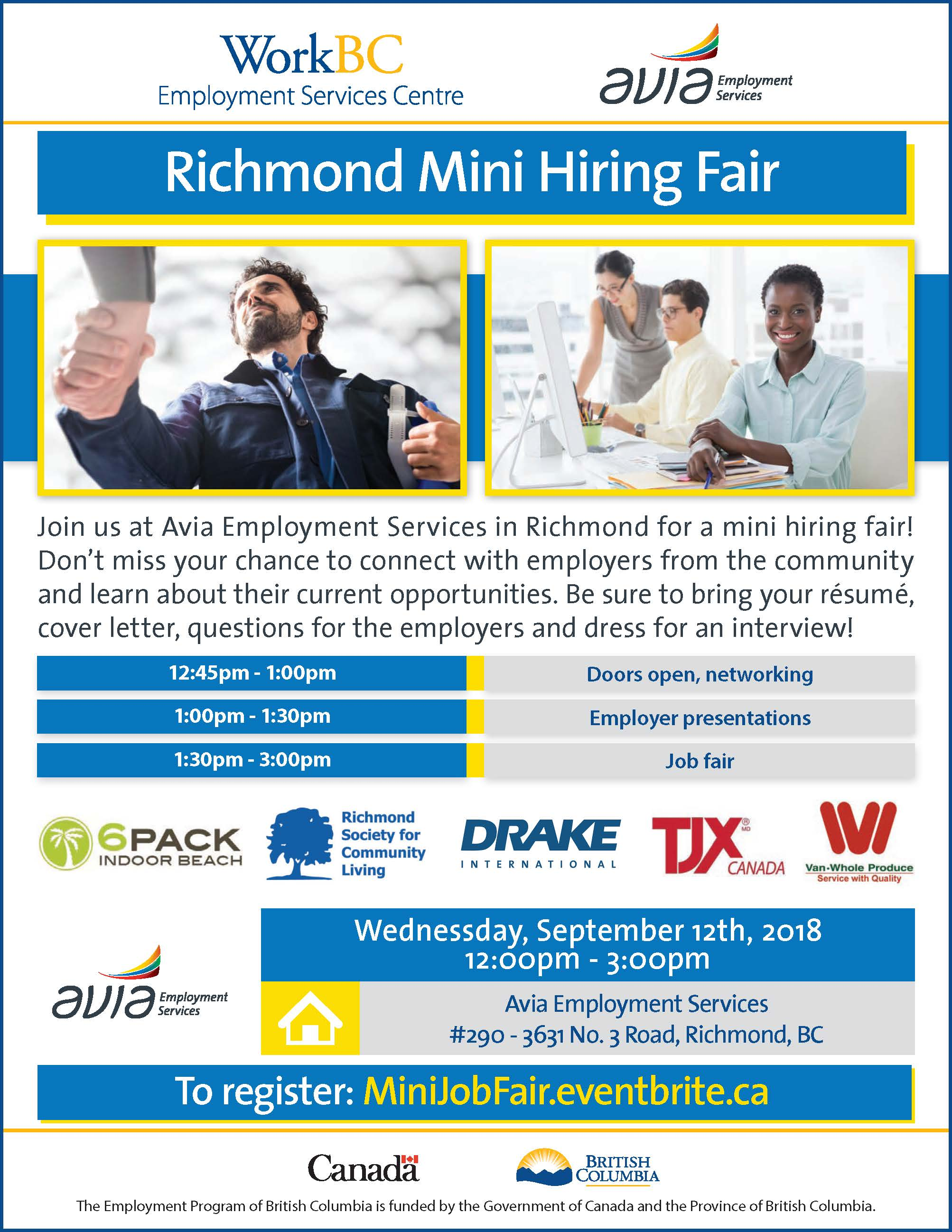 mini job fair  richmond