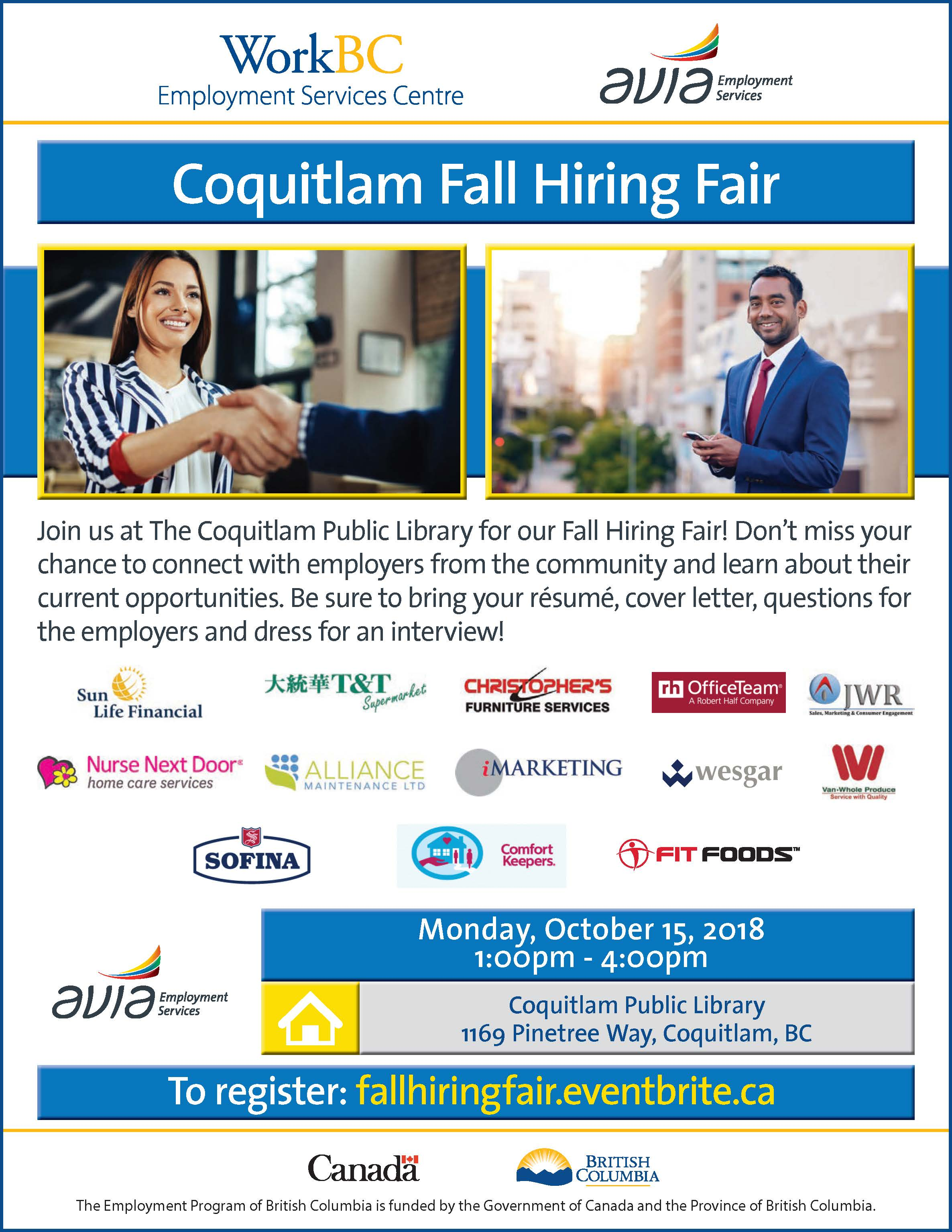 Coquitlam Fall Hiring Fair