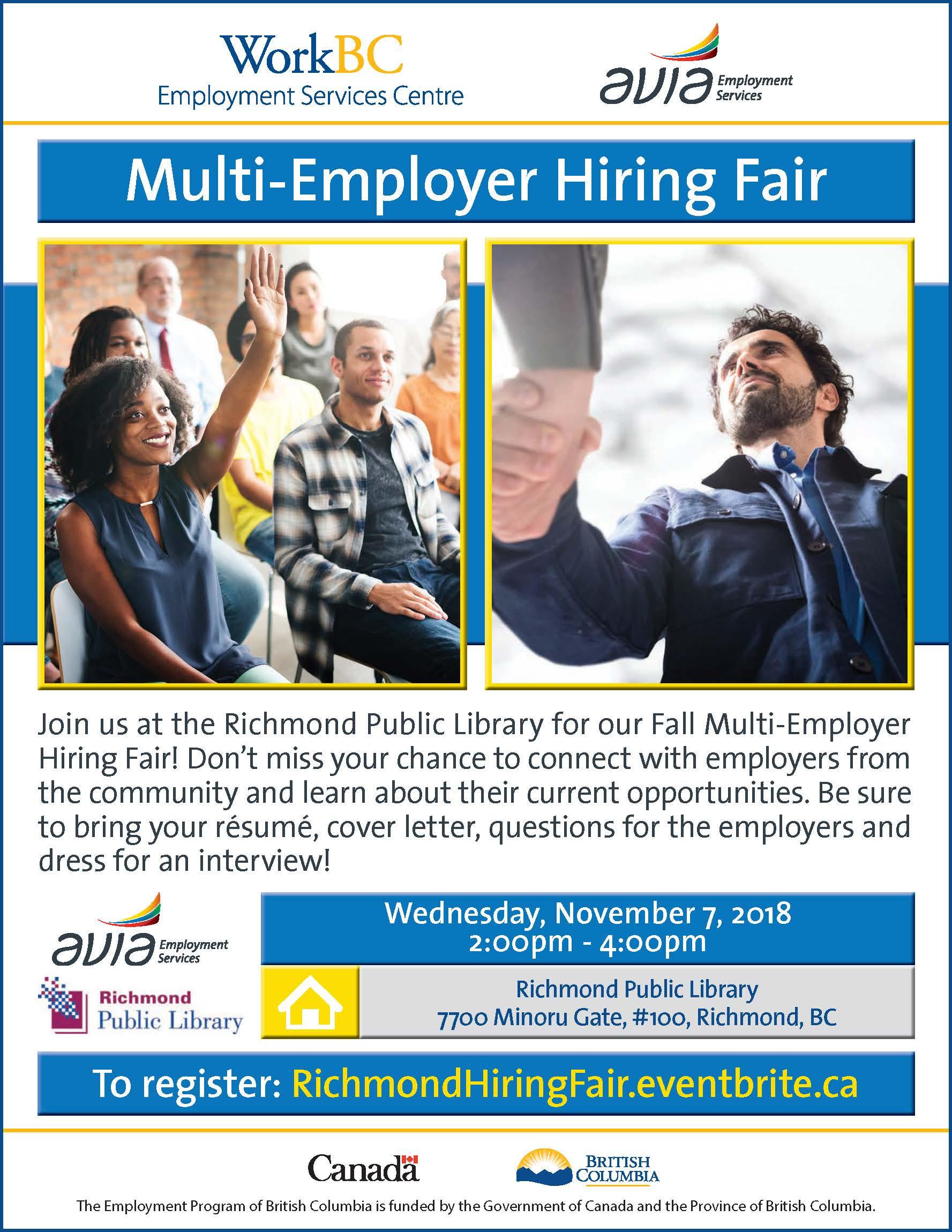 Fall 2018 Multi-Employer Hiring Fair (Richmond)