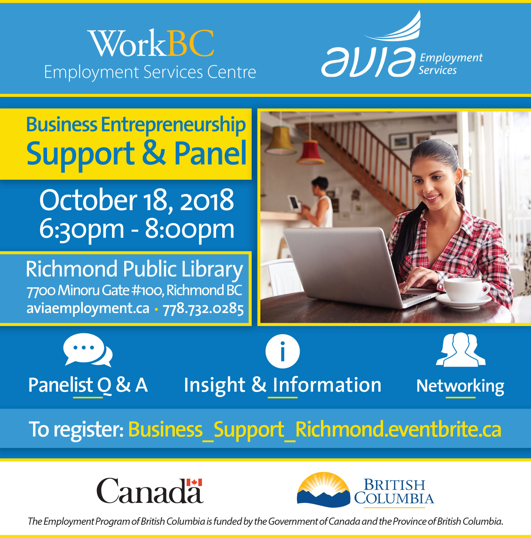 Business Entrepreneurship Support & Panel (Richmond)