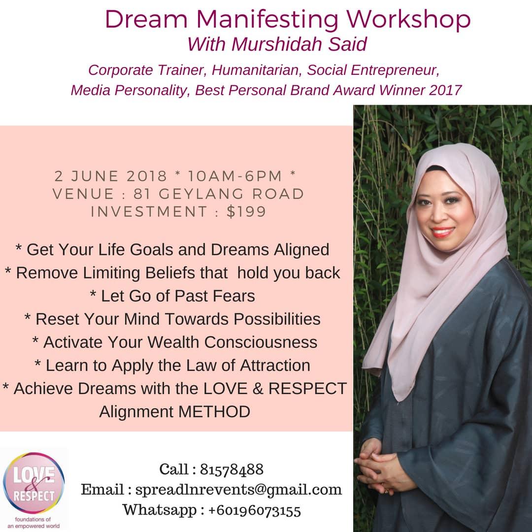 Dream Manifesting Workshop E Poster