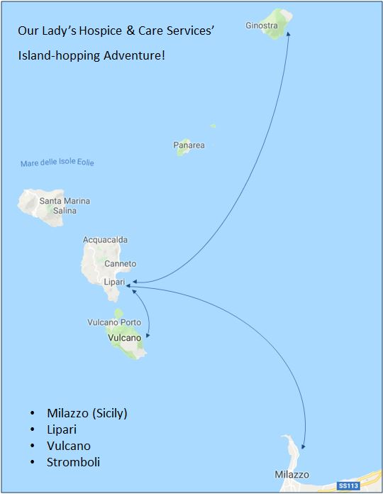 Island route map