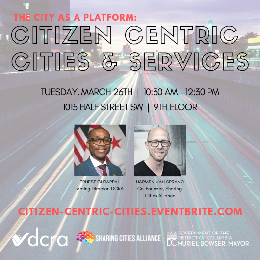 The City as a Platform: Citizen Centric Cities & Services Promotional Graphic