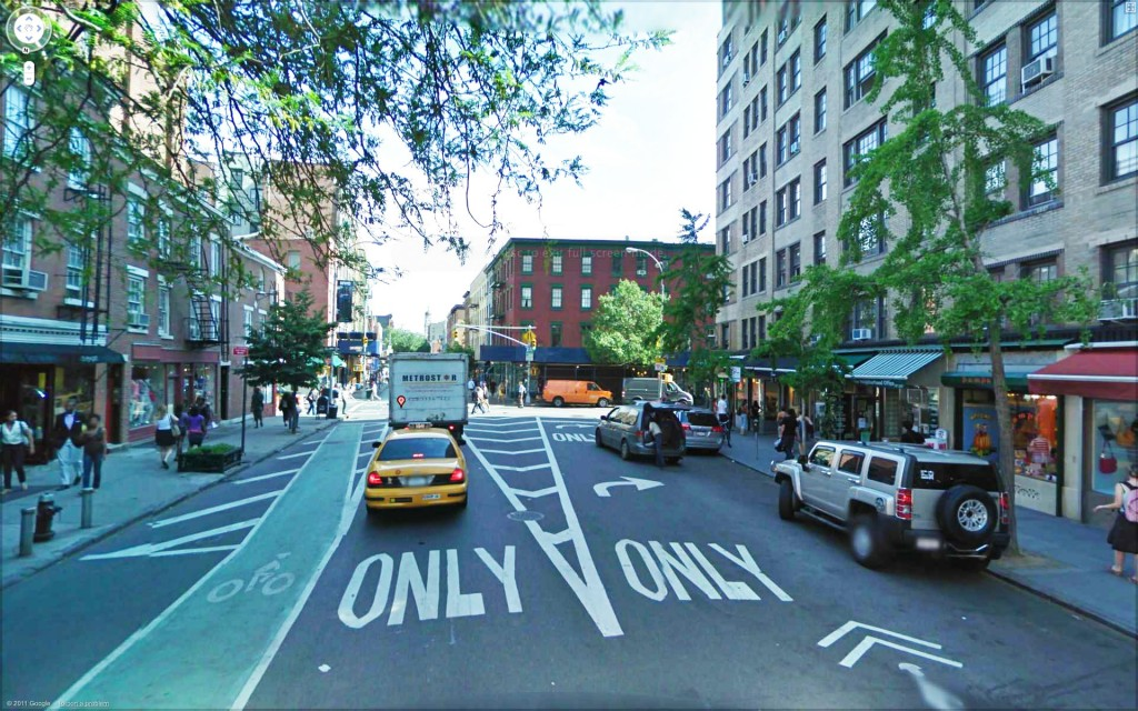The drawings above show Jane Jacobs Square Before and AFter.