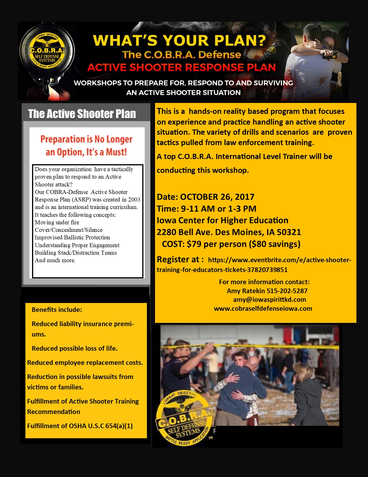 Active Shooter for Educators Flyer