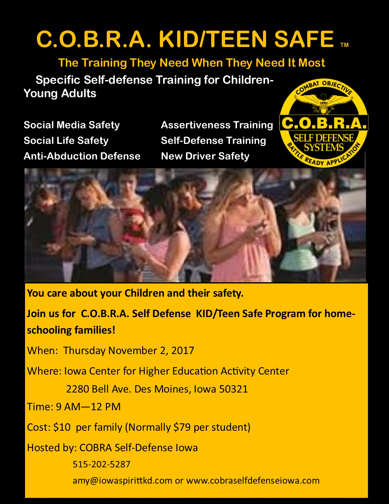 Kid/Teen Safe Event Flyer