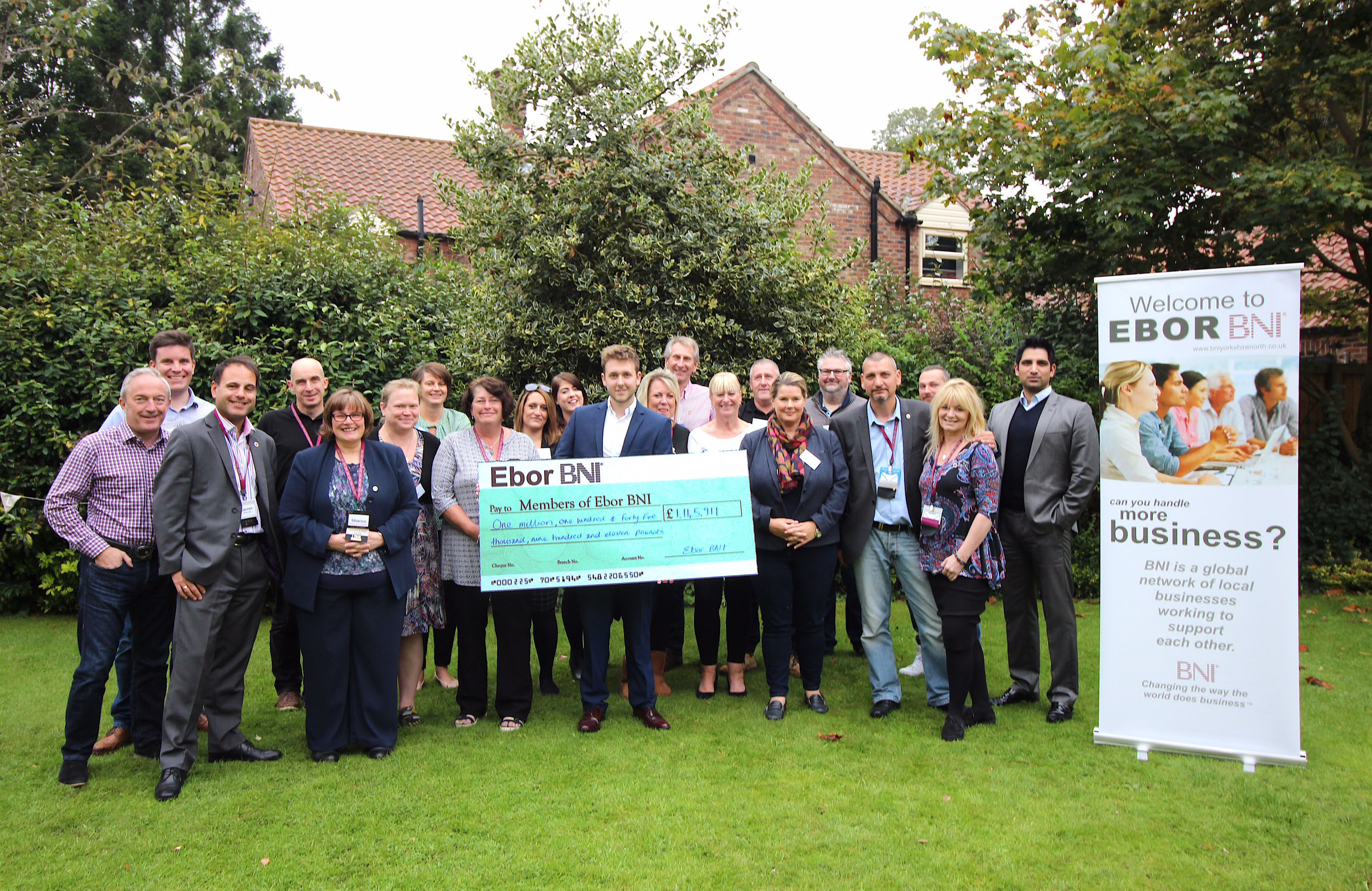 Ebor Members Celebrate 1 Million Pounds of Business
