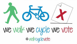 walk cycle vote logo