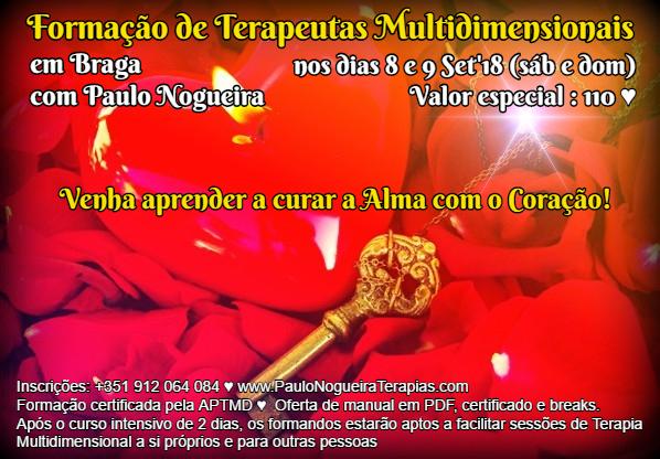 Curso de Terapia Multidimensional em Braga com Paulo Nogueira