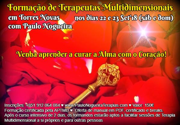 Curso de Terapia Multidimensional em Torres Novas com Paulo Nogueira