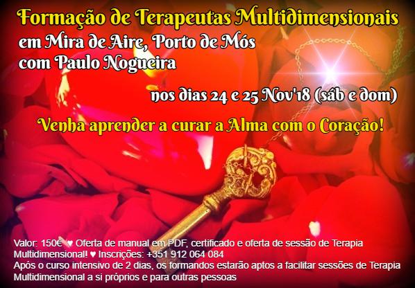 Curso de Terapia Multidimensional em Mira d'Aire, Porto de Mós, Leiria com Paulo Nogueira