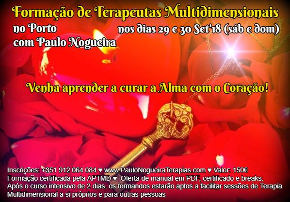 Curso de Terapia Multidimensional no PORTO com Paulo Nogueira