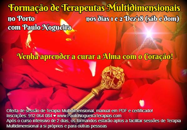 Curso de Terapia Multidimensional no Porto em Dez'18