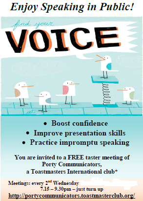 Porty Flyer - FIND YOUR VOICE