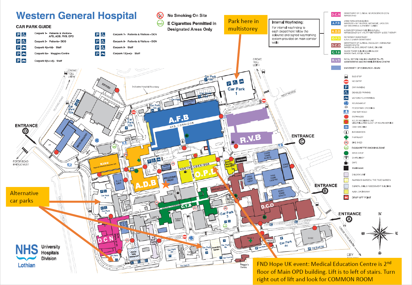 Map of Hospital