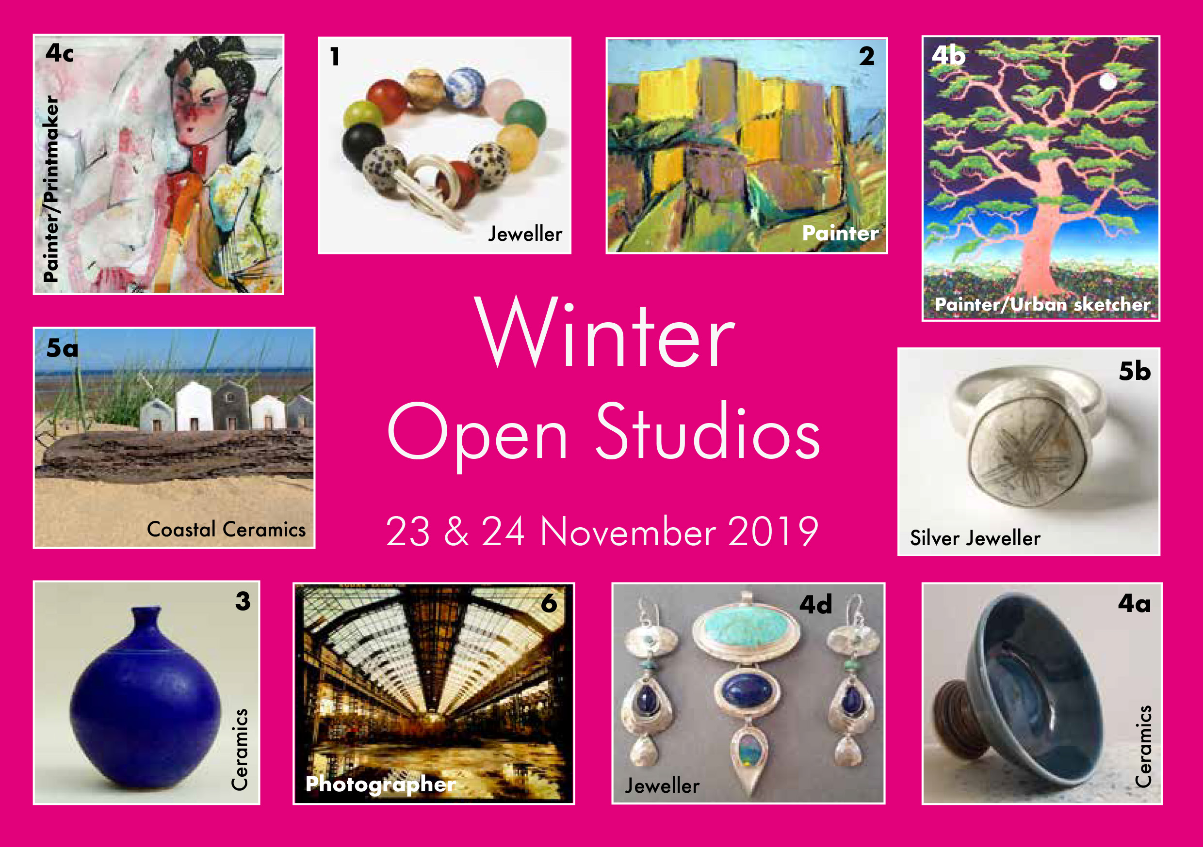 Cambridge Winter Open Studio Art Trail Artists