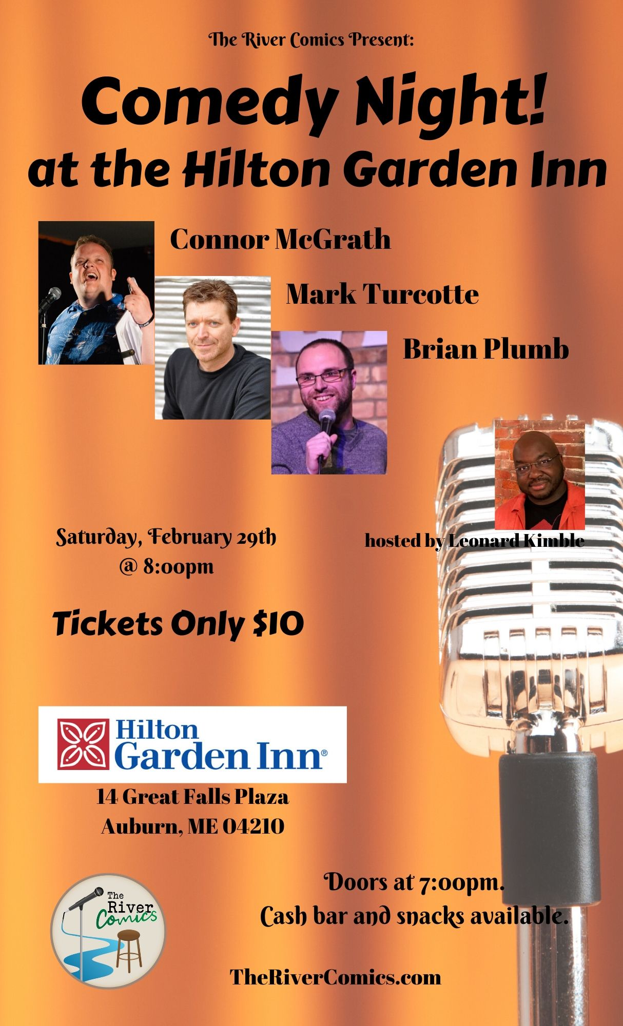 Comedy Night at The Hilton Garden Inn - Saturday, February 29th at 8pm