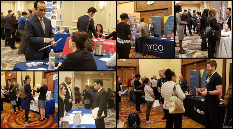 Collage of job fair images