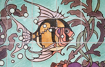 Julia Morgan Fish Tile