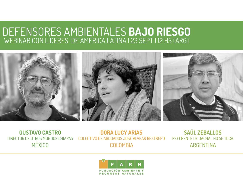 ORADORES: GUSTAVO CASTRO, DORA LUCY ARIAS Y ARGENTINO SAUL ZEBALLOS