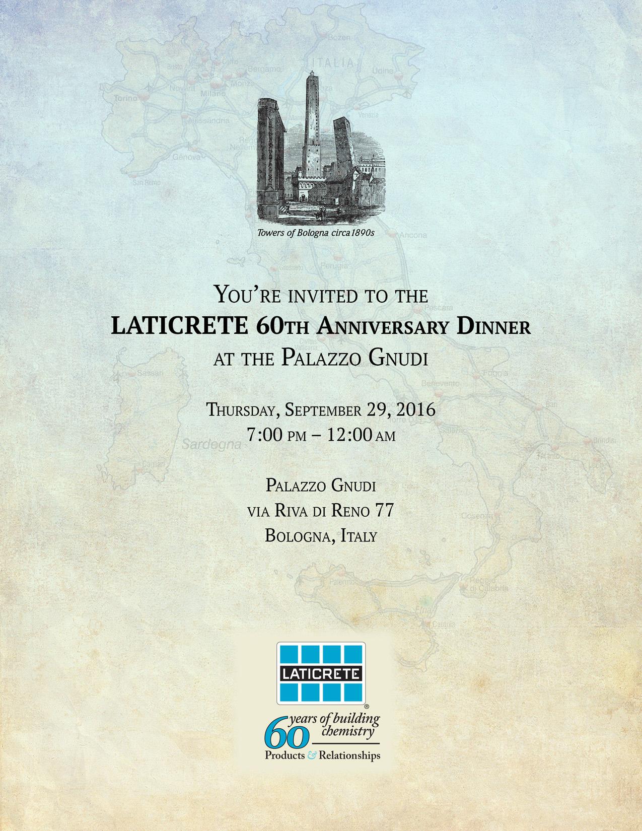 LATICRETE 60th Anniversary Dinner
