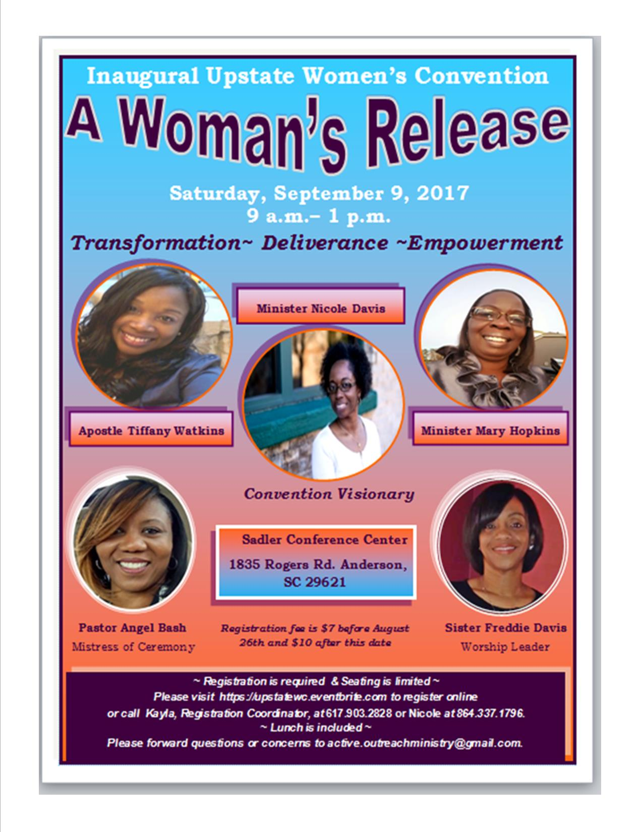 Upstate Women's Convention Flyer
