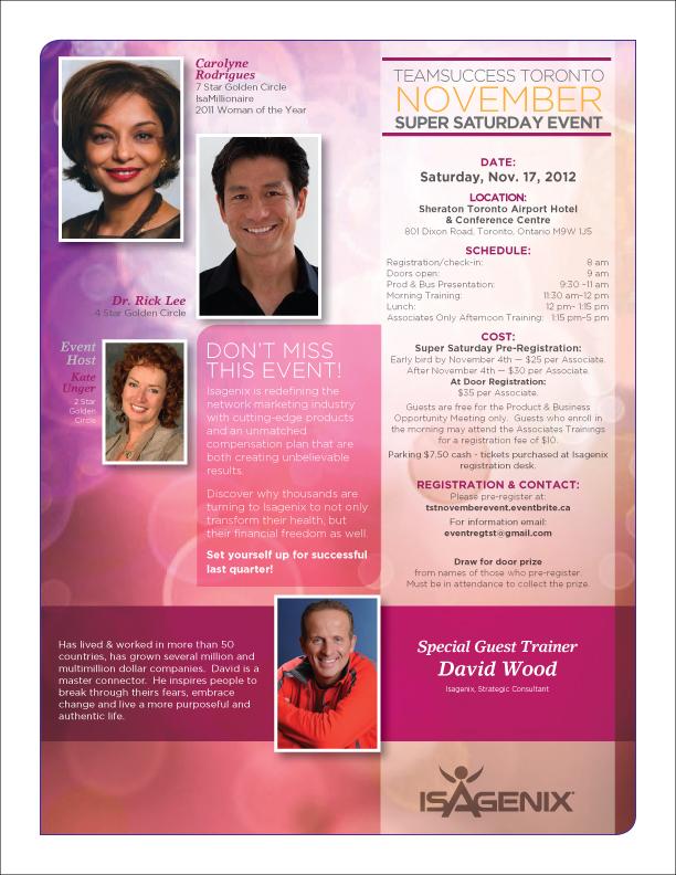 TST November Super Saturday Event Flyer