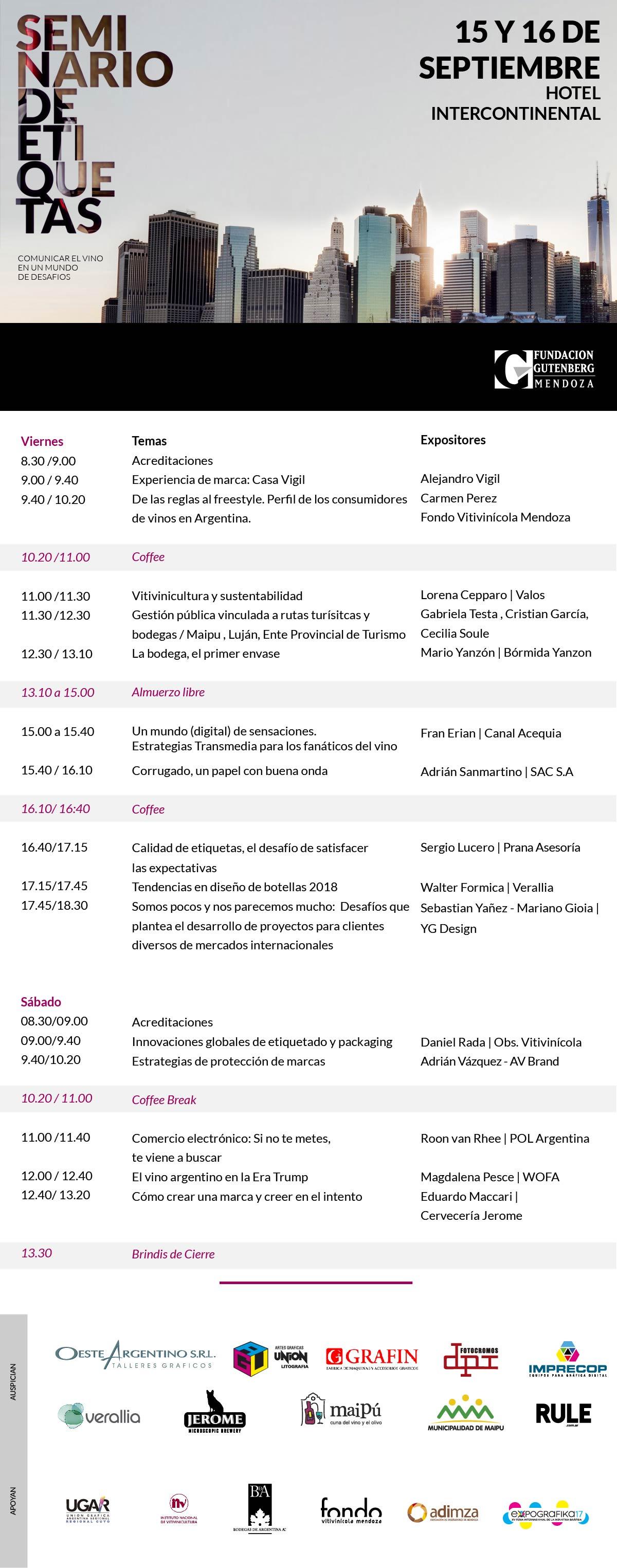 Programa Seminario Etiquetas 2017
