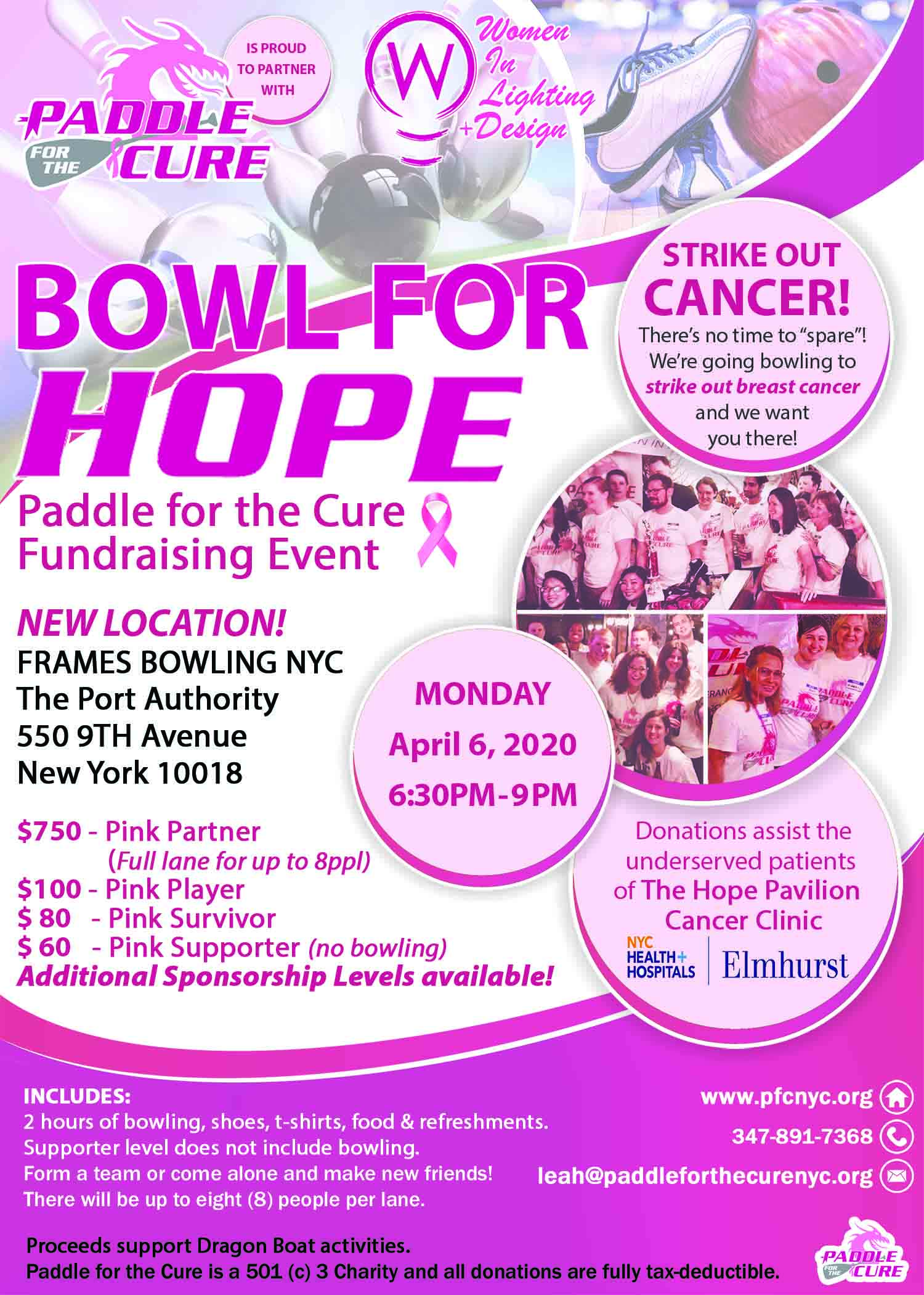 Bowl for Hope 2020 Flyer