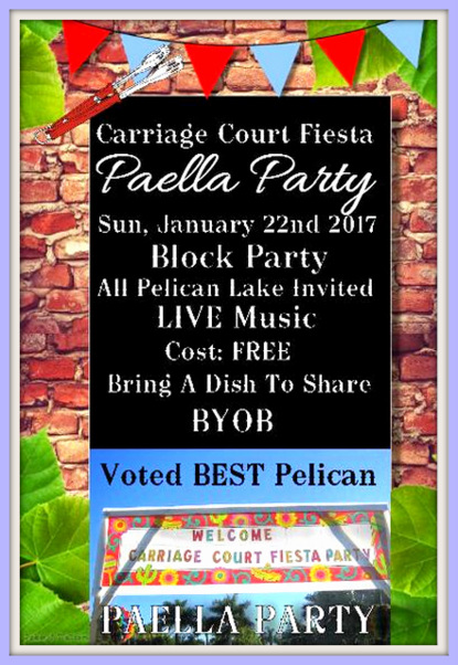 Paella Party Poster