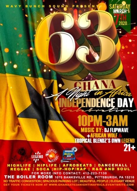 Ghana @ 63: A Night in Africa Flyer