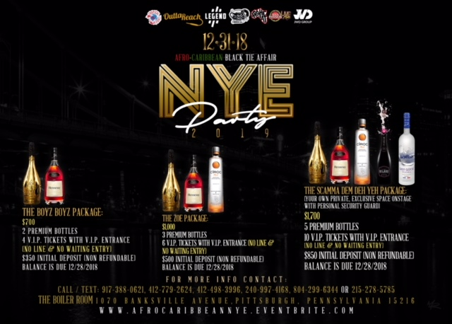 NYE Bottle Flyer