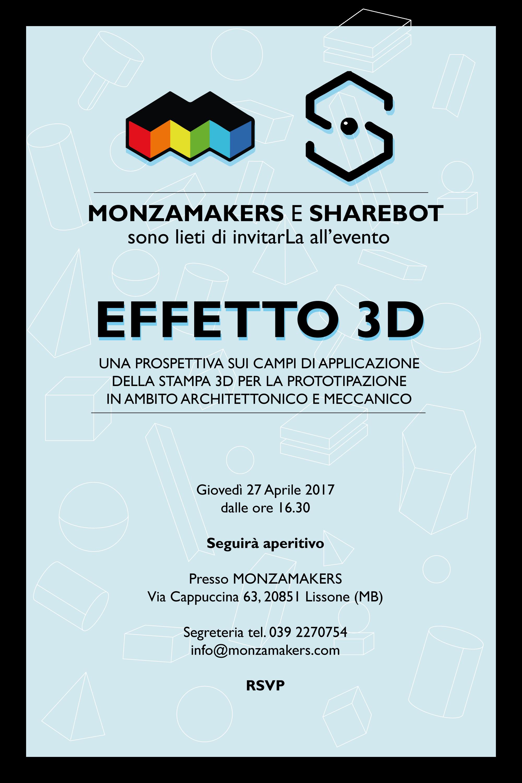 Locandina Evento EFFETTO 3D