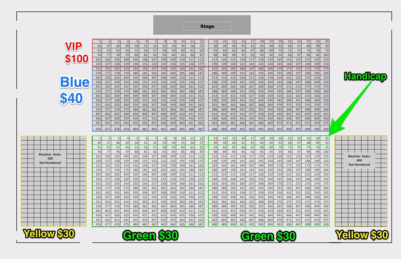 Seat Chart