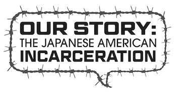 Our Story logo - speech bubble of barbed wire